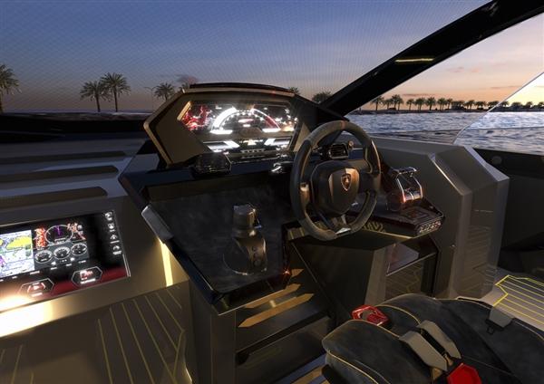 两台V12发动机 马力超4000匹!兰博基尼全新游艇发布