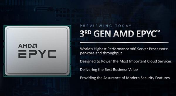 64核心128线程Zen3!AMD三代霄龙完整型号、规格曝光:领先68%