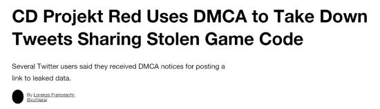 CD Projekt正努力解决黑客入侵代码泄露问题 删除分享下载的推文