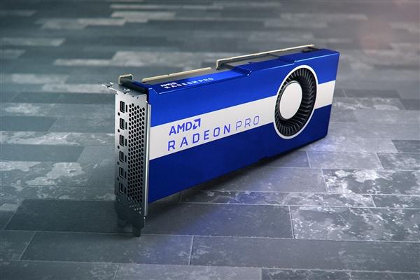 AMD RDNA2专业卡首次现身:蓝白颜值依旧、暴力涡轮风扇