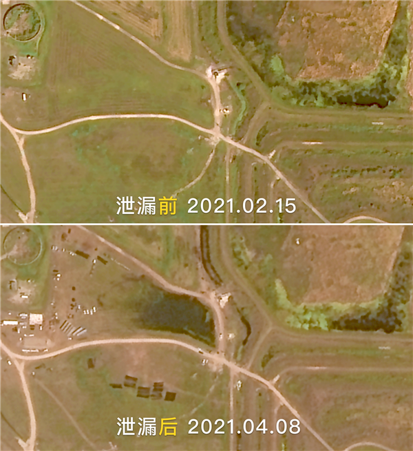 美国污水池核泄漏:中国卫星抓拍 对比骇人