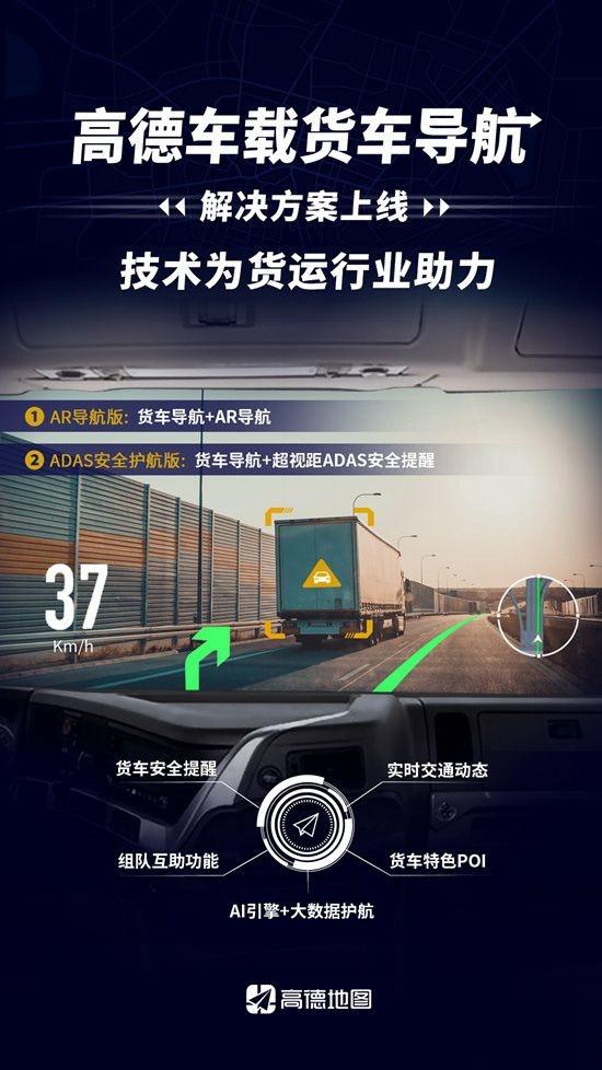 高德车载货车导航上线:为3000万卡车司机量身打造