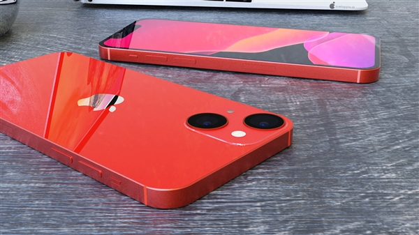 iPhone 13 mini高清渲染图:刘海更下、屏占比更高