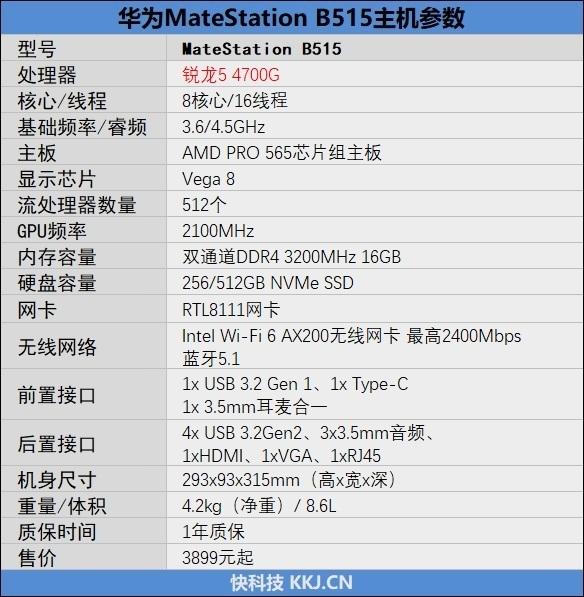 锐龙7 4700G加持!HUAWEI MateStation B515商用主机评测:迷你身材、顶级性能