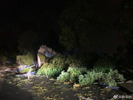 武汉龙卷风已致6死218伤 现场画面曝光:直径40厘米大树被连根拔起