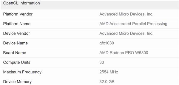 AMD Radeon Pro W6800专业卡现身:第一次上32GB显存