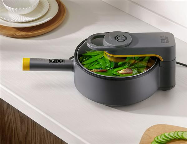 仅499元!小米有品众筹智能炒菜机:炒、蒸、煎全能