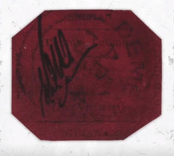 全球最贵邮票被拍出830万美元:最初价值仅1美分